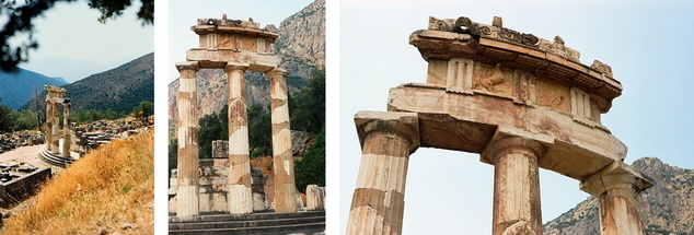 The tholos at the sanctuary of Athena Pronoia, Delphi