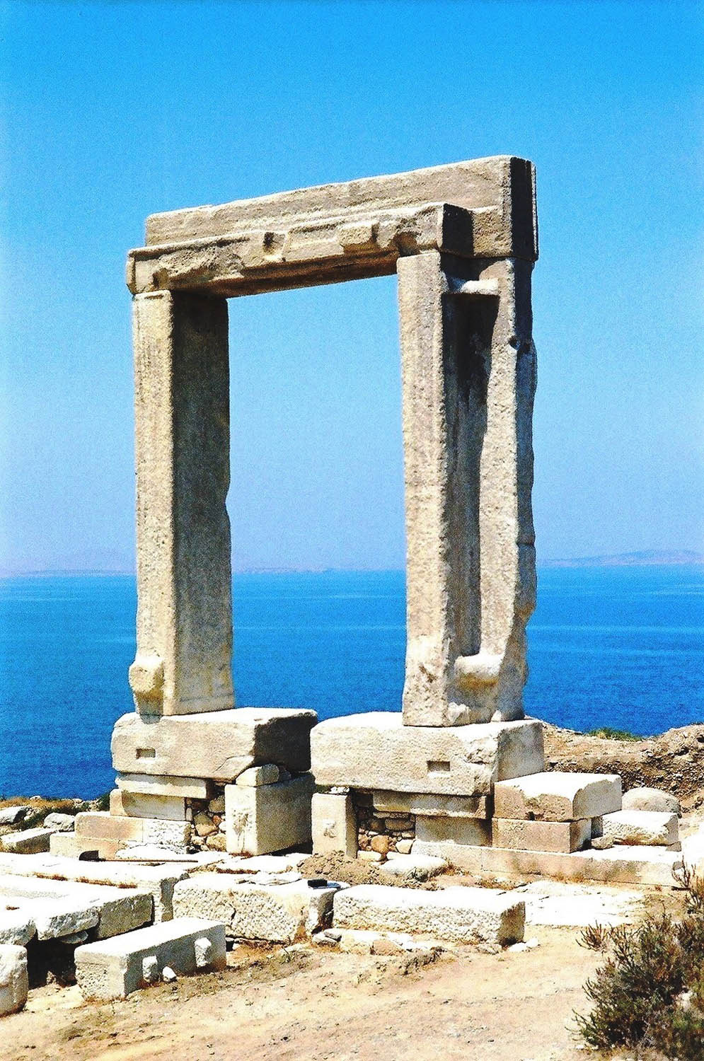 Apollo Temple's entrance, Naxos